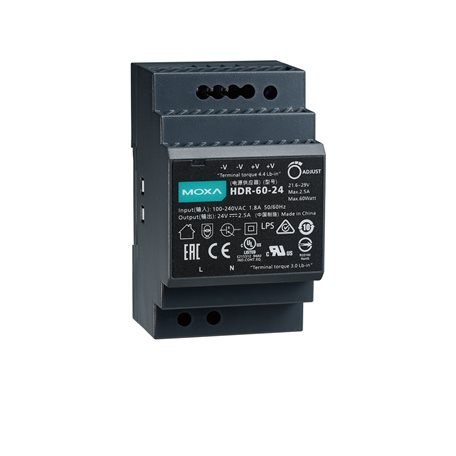 MOXA HDR-60-24 DIN-rail Power Supply