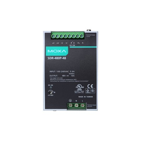 MOXA SDR-480P-48 DIN-rail Power Supply