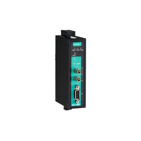 MOXA ICF-1180I-S-ST PROFIBUS to Fiber converter