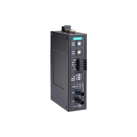 MOXA ICF-1150I-S-ST-T Serial to Fiber Converter