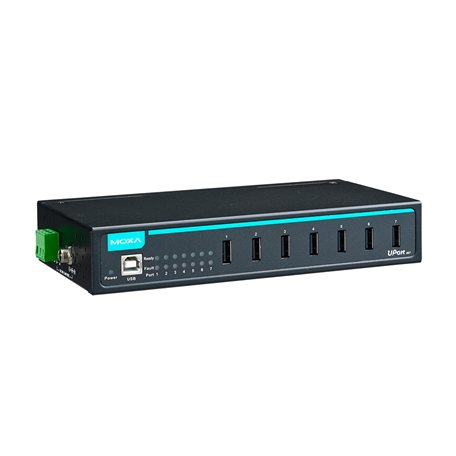 MOXA UPort 407 w/ Adapter 7-Port Industrial USB Hub