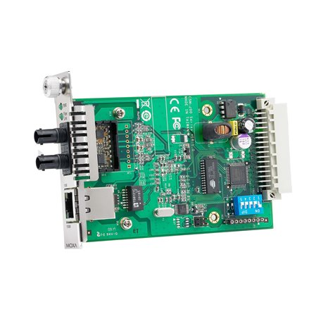 MOXA CSM-200-1213 slide-in Ethernet-to-Fiber Media Converters