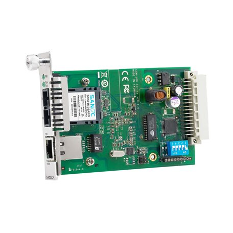 MOXA CSM-200-1214 slide-in Ethernet-to-Fiber Media Converters