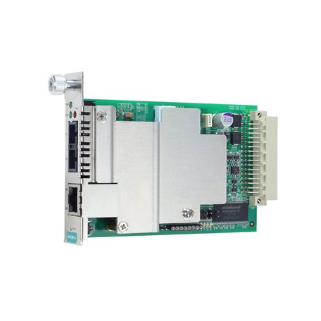 MOXA CSM-400-1224-T slide-in Ethernet-to-Fiber Media Converter