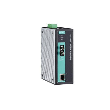 MOXA IMC-101-M-ST-T Ethernet to Fiber Converter
