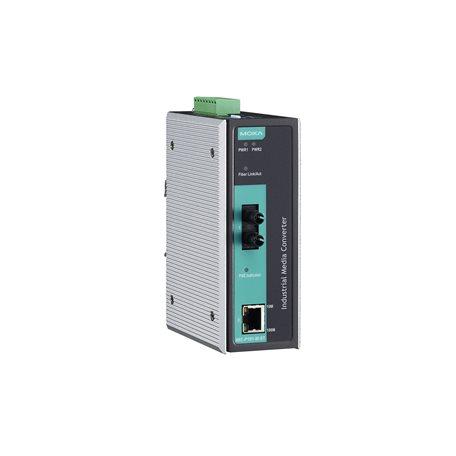 MOXA IMC-P101-M-ST-T Ethernet to Fiber Converter