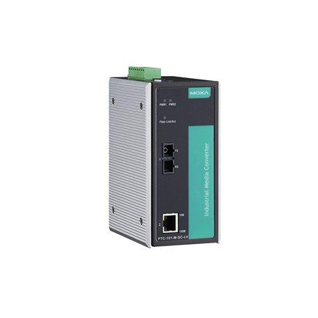 MOXA PTC-101-M-SC-HV Ethernet to Fiber Converter