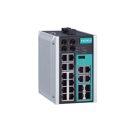 MOXA EDS-518E-MM-ST-4GTXSFP-T Managed Ethernet Switches