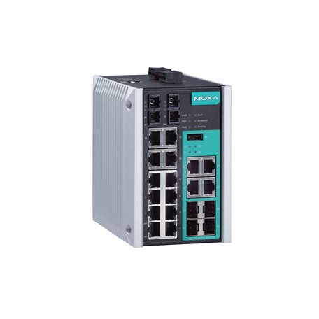 MOXA EDS-518E-SS-SC-4GTXSFP-T Managed Ethernet Switches