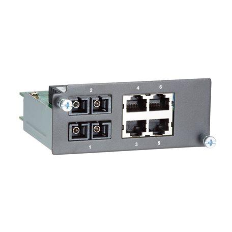 MOXA PM-7200-2MSC4TX Fiber Ethernet Module