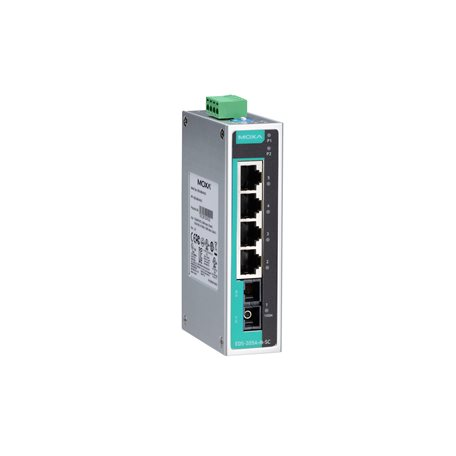 MOXA EDS-205A-S-SC-T Unmanaged Ethernet Switches
