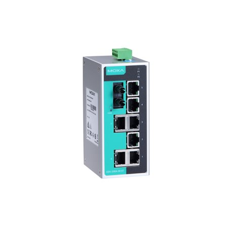 MOXA EDS-208A-M-ST-T Unmanaged Ethernet Switches