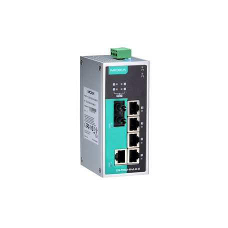 MOXA EDS-P206A-4PoE-M-ST-T Unmanaged Ethernet Switches