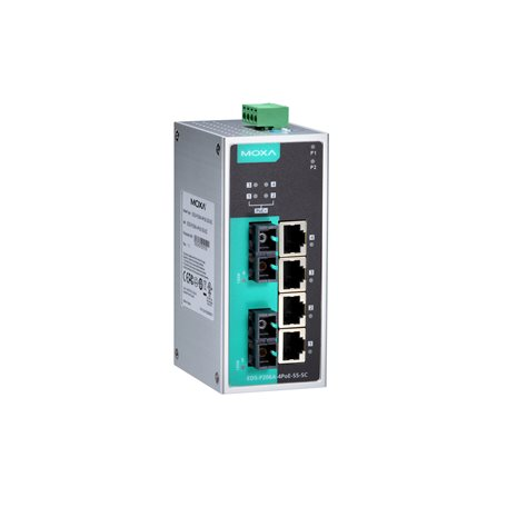 MOXA EDS-P206A-4PoE-SS-SC Unmanaged Ethernet Switches