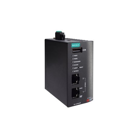 MOXA IEC-G102-BP-Pro-T IPS with hardware bypass