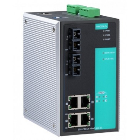 MOXA EDS-P506A-4PoE-SS-SC Managed Ethernet Switches